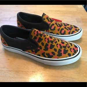 Vans Slip On Cheetah Print Shoes Mens 11.5